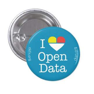 I Heart Open Data CKAN Badge (Dark Blue)