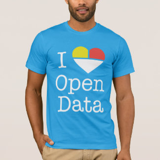 I Heart Open Data CKAN T-Shirt (Men's)