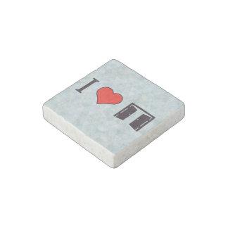 I Heart Opened Doors Stone Magnet