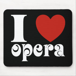 I Heart Opera Lovers Gift Mouse Pad