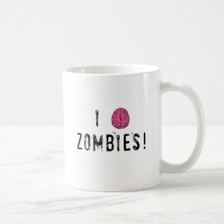 I heart or brain Zombies Coffee Mugs