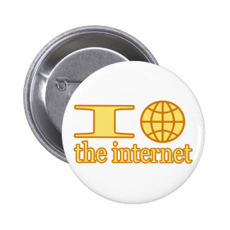 I Heart (or wire globe) the Internet 6 Cm Round Badge