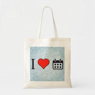 I Heart Organizing My Week Budget Tote Bag