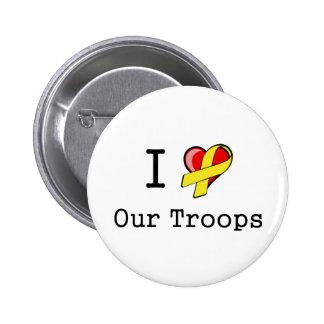 I Heart Our Troops Button