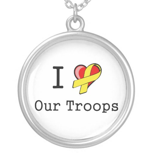 I Heart Our Troops Necklace