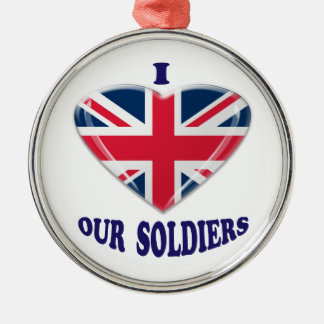 I Heart our UK Soldiers Christmas Ornament