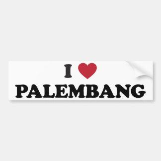 I Heart Palembang Indonesia Bumper Sticker