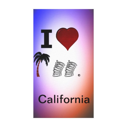 I Heart Palm Springs California Stretched Canvas Prints