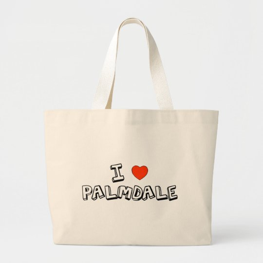 I Heart Palmdale Large Tote Bag