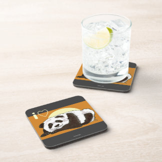 I Heart Panda Drink Coaster