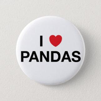 I HEART PANDAS Badge Pin