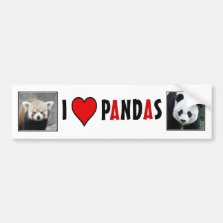 I Heart PANDAS! Bumper Sticker