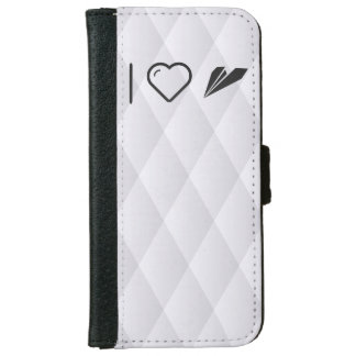 I Heart Paper Airplanes iPhone 6 Wallet Case