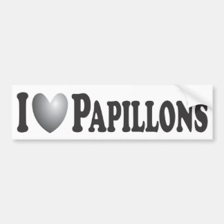 I Heart Papillons - Bumper Sticker