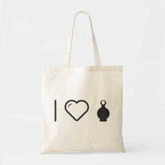 I Heart Parfum Bottles Budget Tote Bag