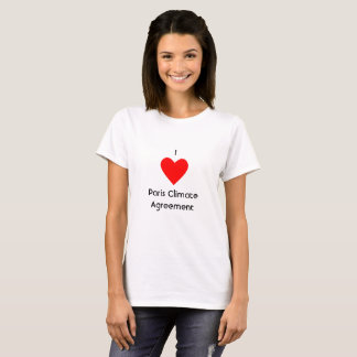 I Heart Paris Climate Agreement T-Shirt