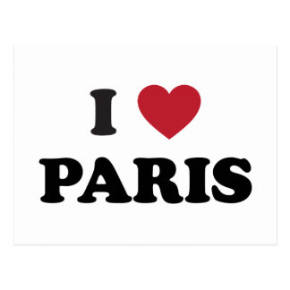 I Heart Paris France Postcard