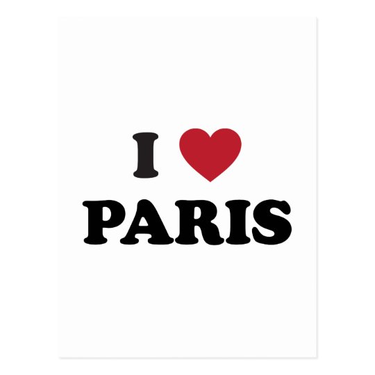 I Heart Paris France Postcard