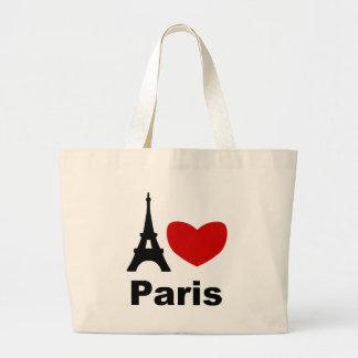 I Heart Paris Large Tote Bag