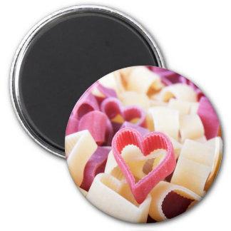 I Heart Pasta 6 Cm Round Magnet