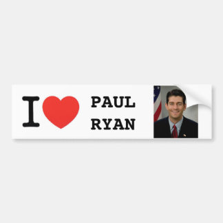 I <Heart> PAUL RYAN Bumper Sticker
