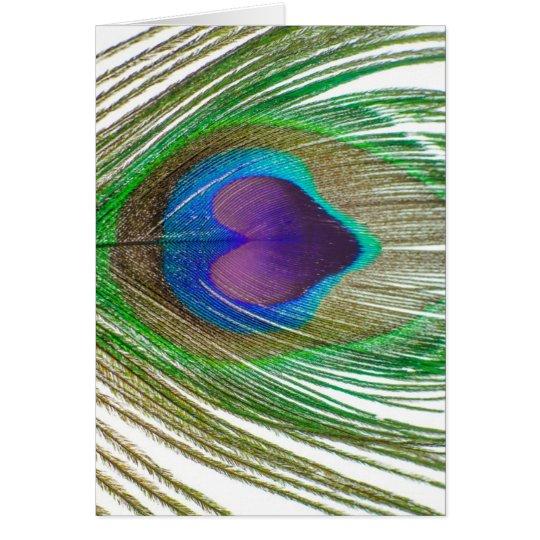 I Heart Peacocks Card