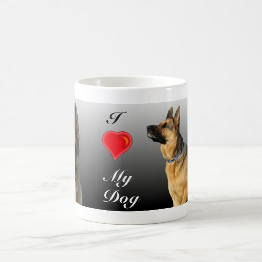 I (heart) Personalised German Shepherd Coffee Mug