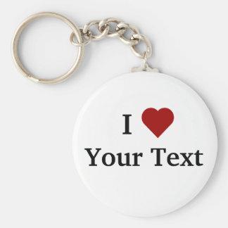 I Heart personalize keychain