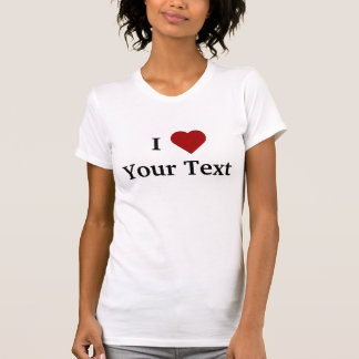 I Heart personalize t-shirt