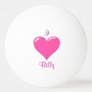 I Heart Personalized Ping Pong Ball