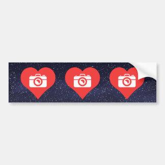 I Heart Photographers Icon Bumper Sticker