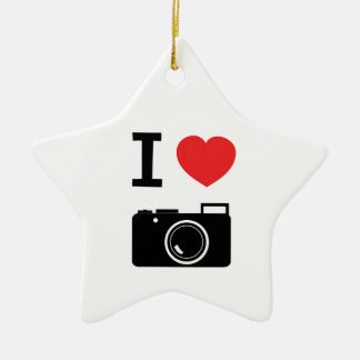 I HEART PHOTOGRAPHY CHRISTMAS ORNAMENT