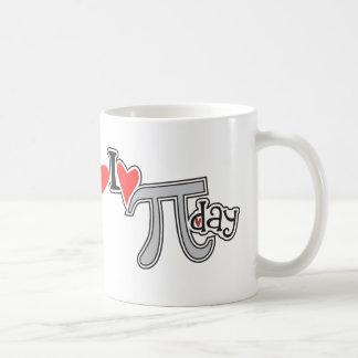 I heart Pi Day Basic White Mug