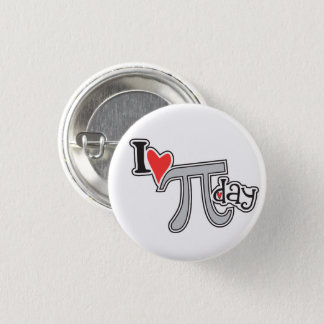 I heart Pi Day Button Pi Symbol Swag