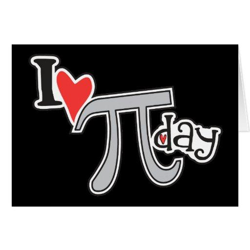 I heart Pi Day Cards