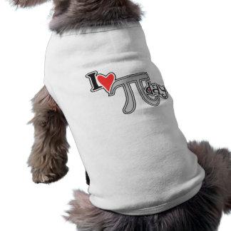 I heart Pi Day Dog T Shirt