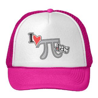 I heart Pi Day Mesh Hats