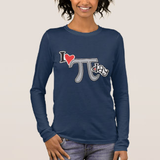 I heart Pi Day Long Sleeve T-Shirt