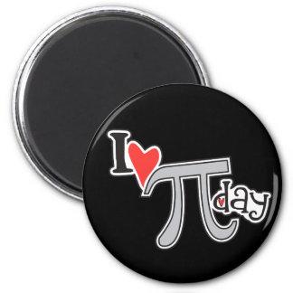 I heart Pi Day Magnets