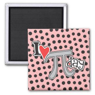 I heart Pi Day Refrigerator Magnets