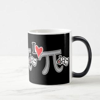 I heart Pi Day Morphing Mug