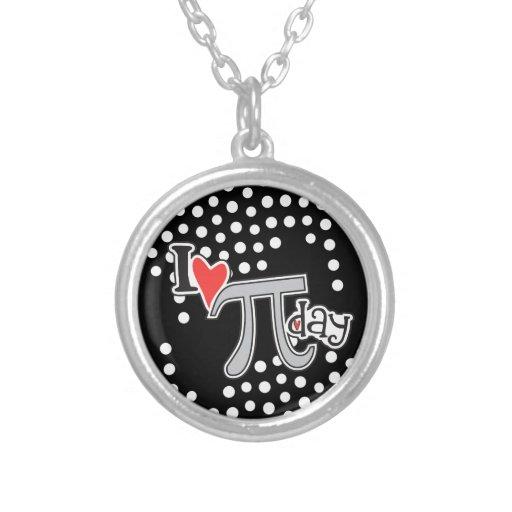 I heart Pi Day Necklaces