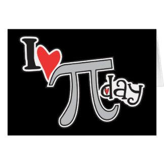 I heart Pi Day Note Card