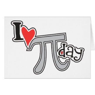 I heart Pi Day Note Card