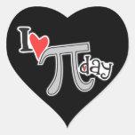 I heart Pi Day - Pi Day Gifts Heart Sticker