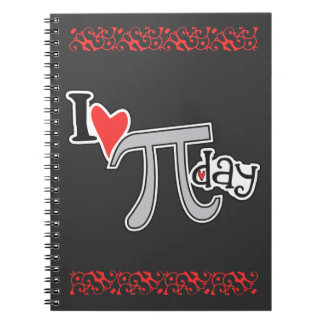 I heart Pi Day Spiral Note Book
