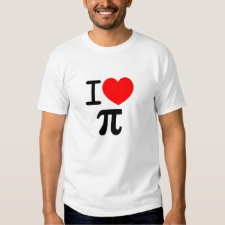 I (Heart) Pi Tee Shirt