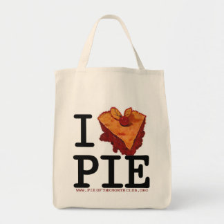 I (heart) pie reusable pie shopping bag! tote bag