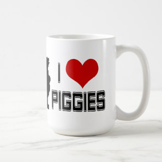 I Heart Piggies coffe mug