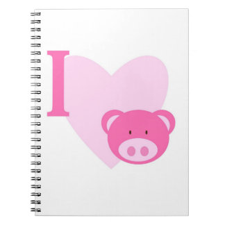 I Heart Pigs Notebook
